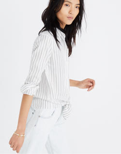 Tie-Front Shirt in Darcy Stripe
