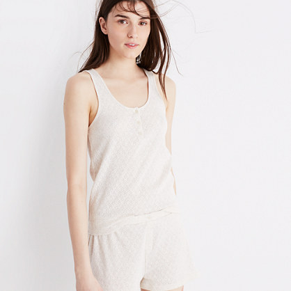 Pointelle Pajama Tank Top