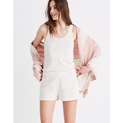 Pointelle Pajama Shorts