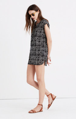 Lace-Up Cover-Up Tunic in Sandlines