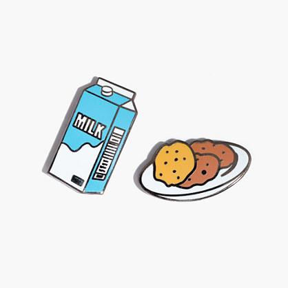 Pintrill® Milk and Cookies Pin Set