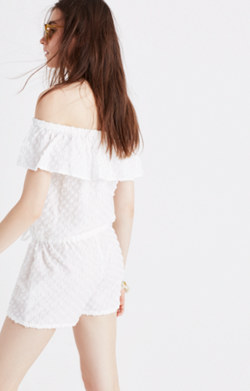Off-the-Shoulder Cover-Up Romper