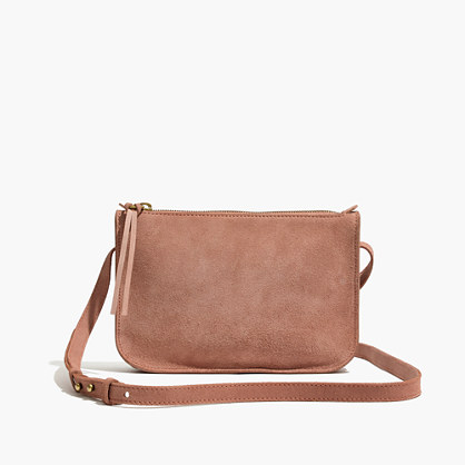 The Simple Crossbody Bag in Suede