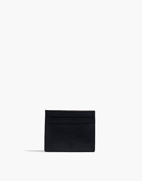 The Leather Card Case in true black image 1