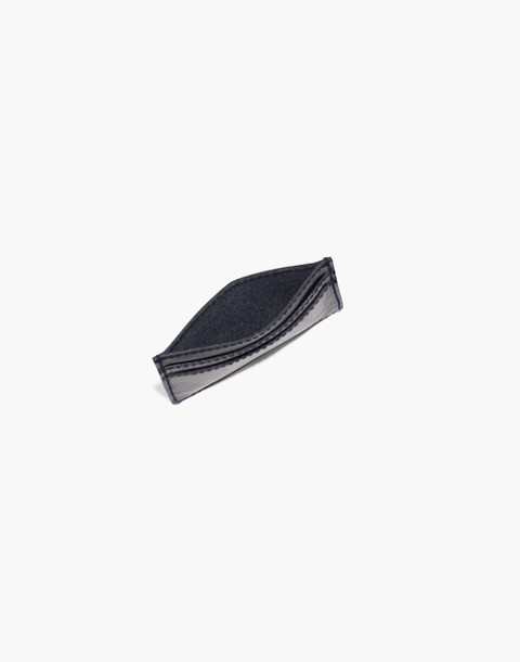 The Leather Card Case in deep navy image 2