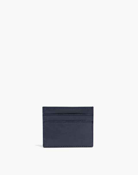 The Leather Card Case in deep navy image 1