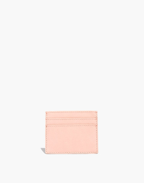 The Leather Card Case in sheer pink image 1