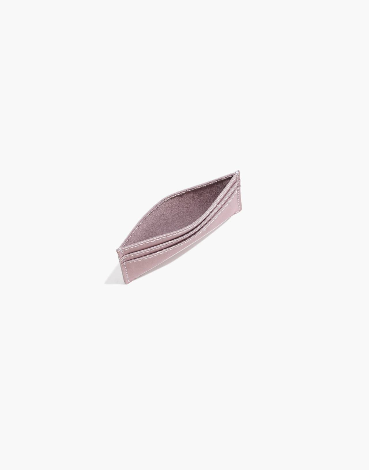 The Leather Card Case in wisteria dove image 2