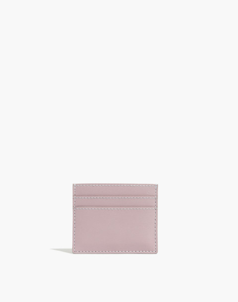 The Leather Card Case in wisteria dove image 1