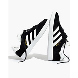 Adidas® Unisex Gazelle® Lace-Up Sneakers in Black