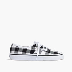 Madewell x Vans® Unisex Authentic Lace-Up Sneakers in Gingham