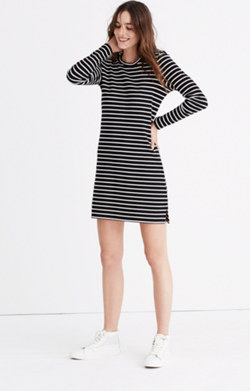 Striped Keyhole-Back Dress