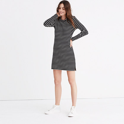 Striped Keyhole-Back Dress