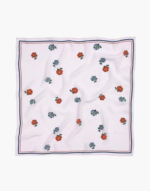 Silk Bandana in marble lilac multi image 2