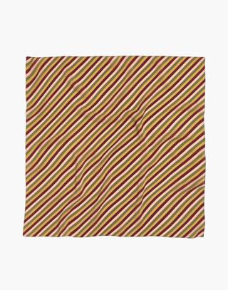 Silk Bandana in light straw multi image 2