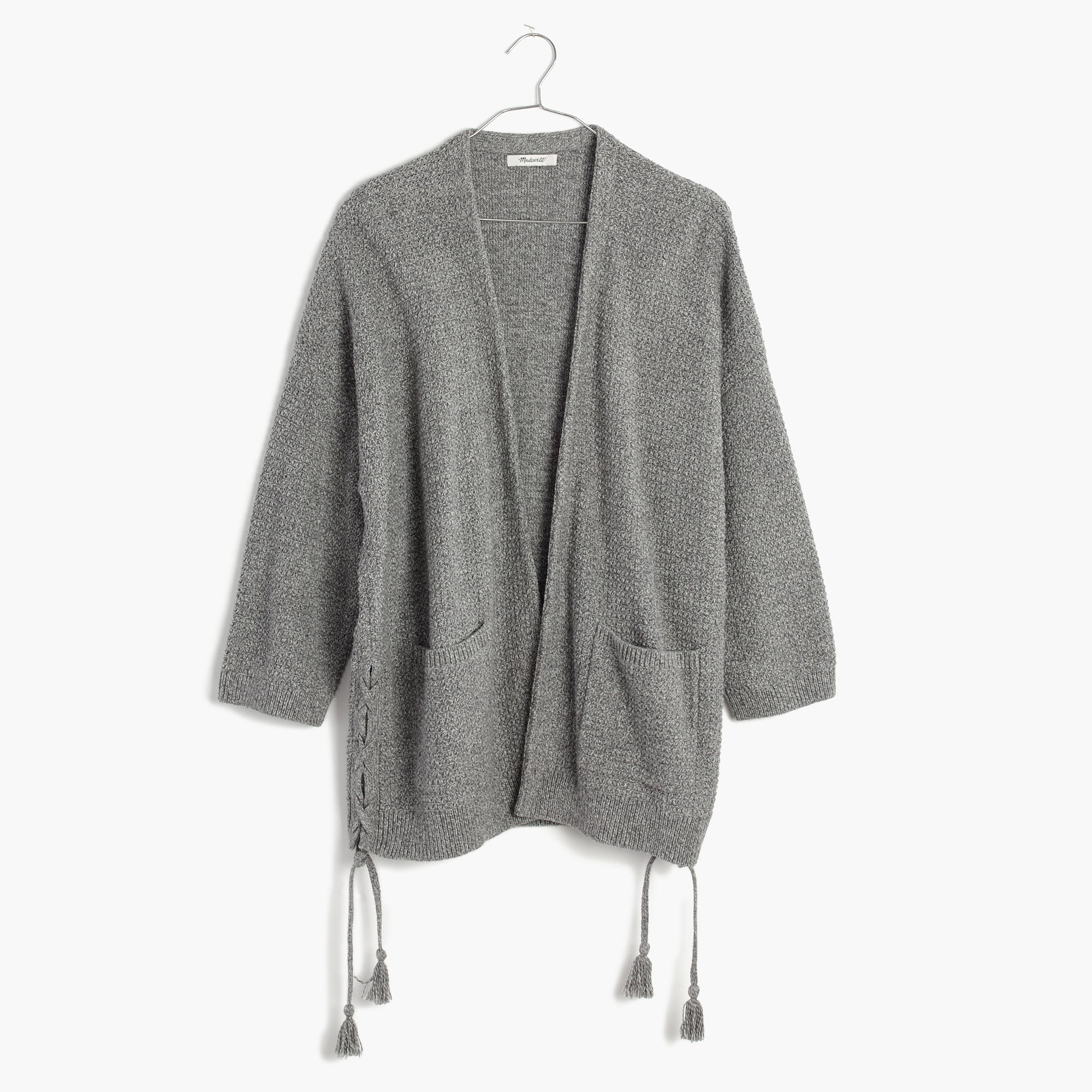 Side-Lace Cardigan Sweater : shopmadewell cardigans & sweater ...