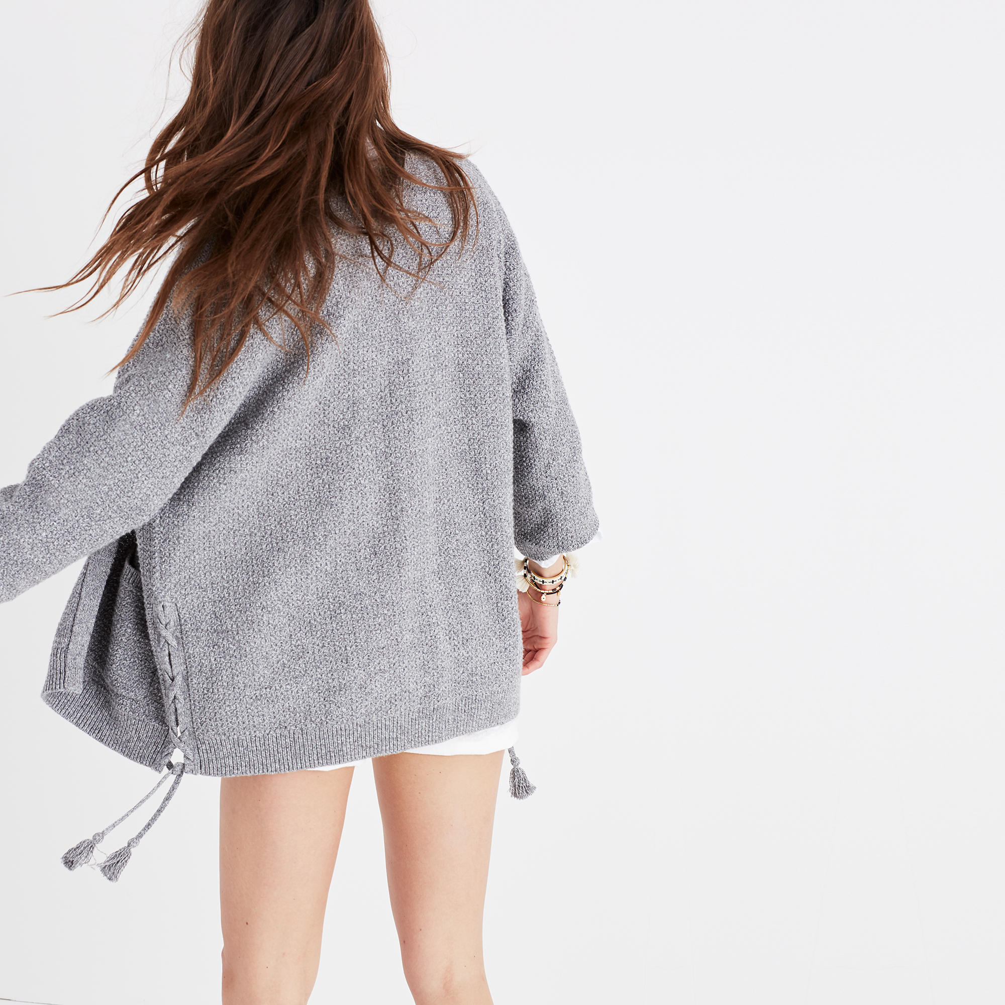 Side-Lace Cardigan Sweater : cardigans & sweater-jackets | Madewell