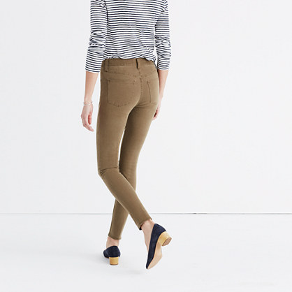 """Taller 9"""" High-Rise Skinny Jeans: Garment-Dyed Edition"""
