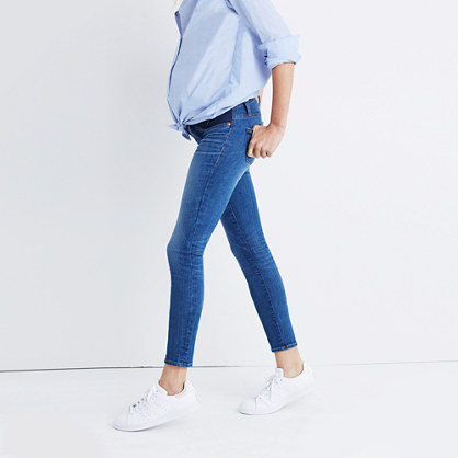 Maternity Skinny Crop Jeans in Emery Wash