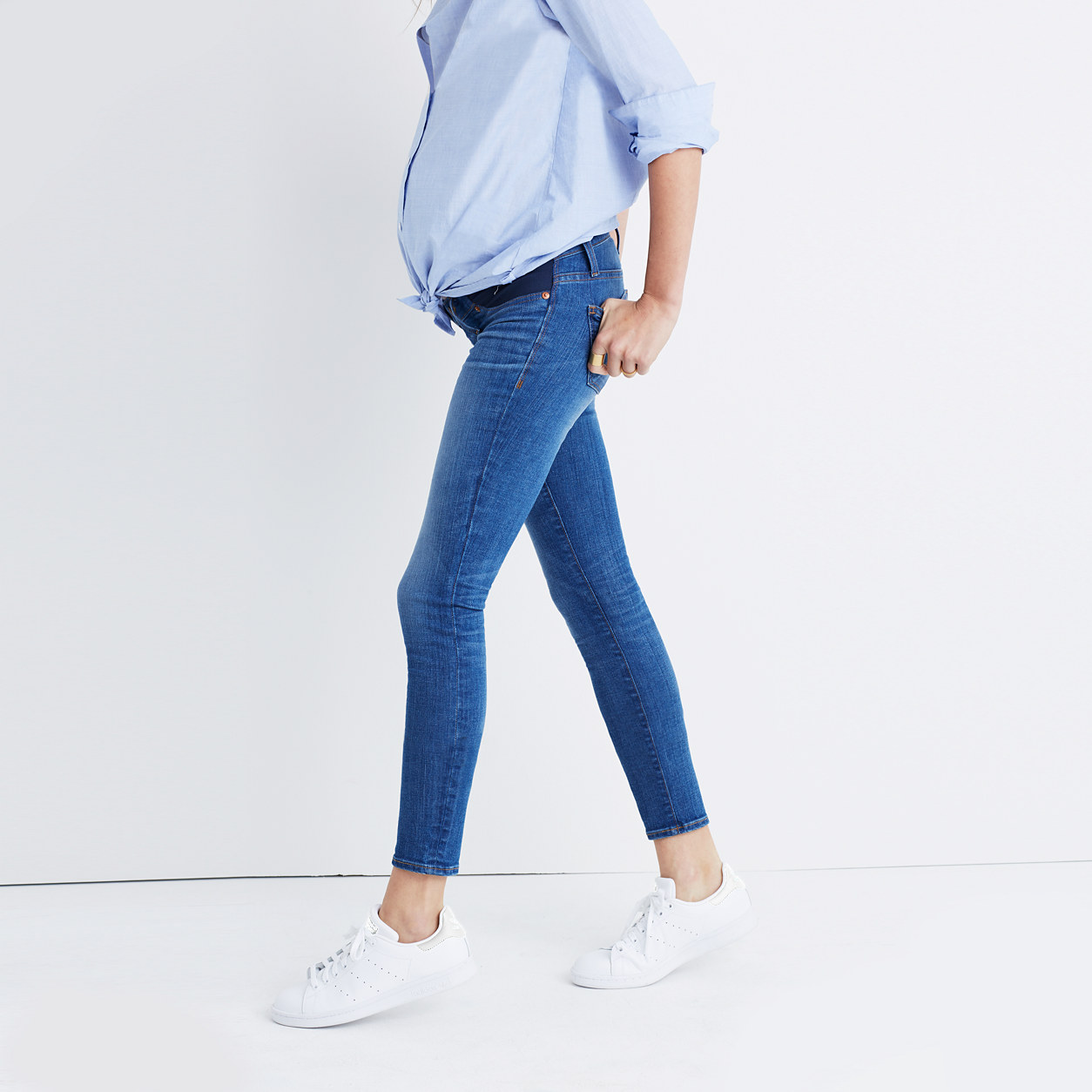 Maternity Skinny Jeans in Juliet Wash : maternity jeans | Madewell