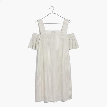 Striped Cold-Shoulder Dress
