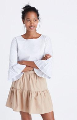 Bell-Sleeve Popover Shirt