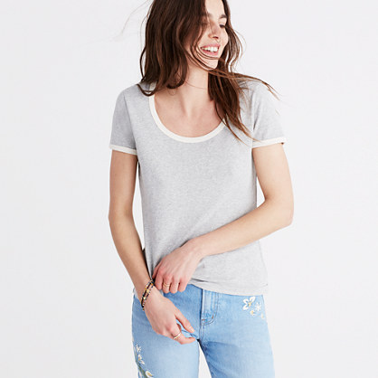Recycled Cotton Ringer Tee