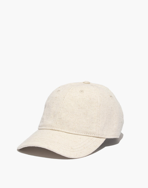 Cotton-Linen Baseball Cap in canvas image 1