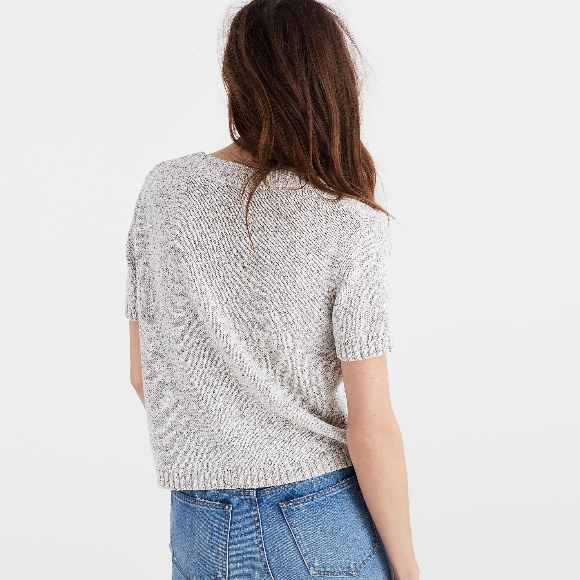 Short-Sleeve Sweater Tee : sleeveless & short sleeve | Madewell