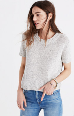 Short-Sleeve Sweater-Tee