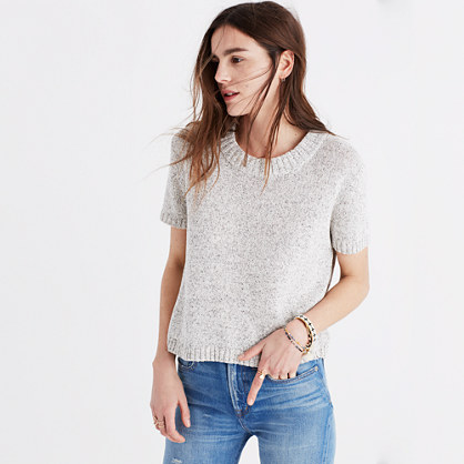 Short-Sleeve Sweater Tee