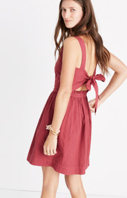 Apron Bow-Back Dress