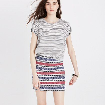 Jacquard Gamine Skirt