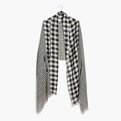 Patchwork Gingham Cape Scarf