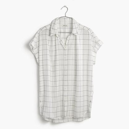 Central Shirt in Windowpane Plaid