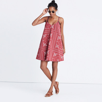 Shaka Cover-Up Dress in Vintage Bandana