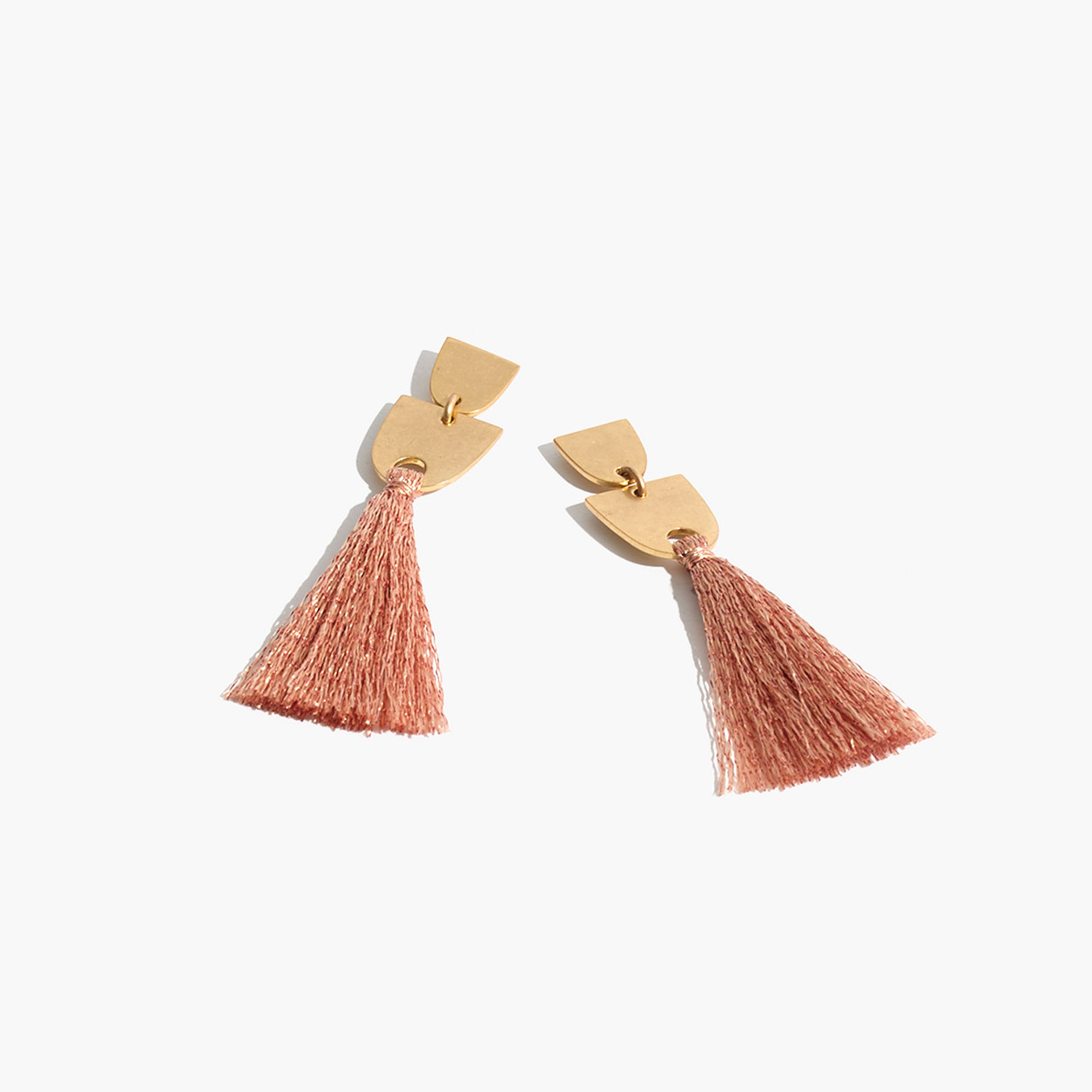Image result for madewell metallic copper thread earrings