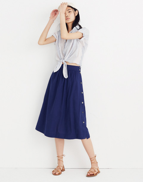 Side-Button Skirt in nightfall image 1 4ed4a8cdf0ed