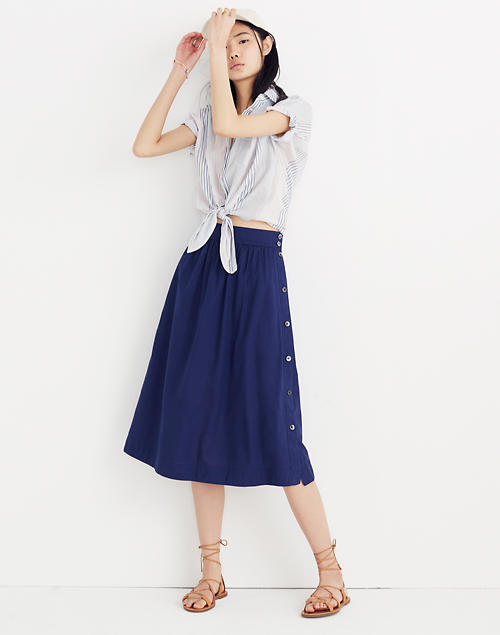 2591a6fab27c Side-Button Skirt in null image 1