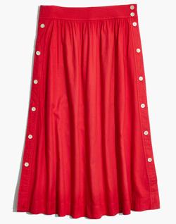 Side-Button Skirt