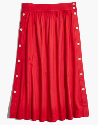 Side-Button Skirt in ripe persimmon image 4