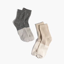 Two-Pack Colorblock Ankle Socks