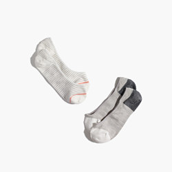 Two-Pack Colorblock & Stripe Low-Profile Socks