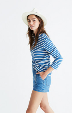 Madewell x Armor-Lux® Long-Sleeve Striped Tee