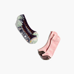 Two-Pack Spring Geometric & Space Dye Low-Profile Socks