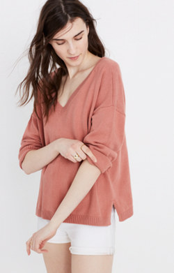 Double-V Pullover Sweater