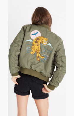 Madewell x Ft. Lonesome™ Embroidered Bomber Jacket