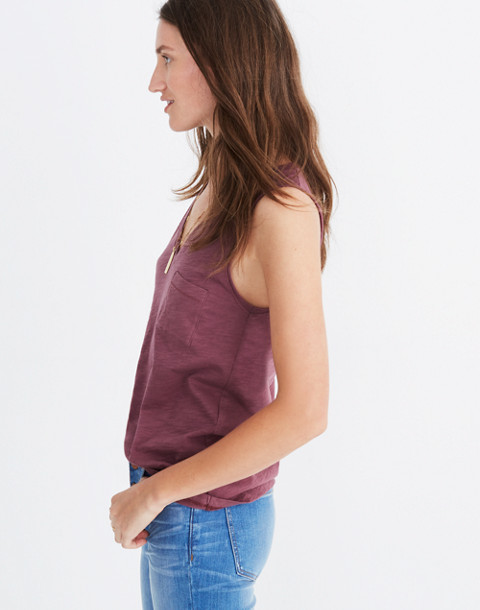 Whisper Cotton V-Neck Pocket Tank