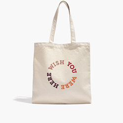 The Reusable Canvas Tote: Wish You Were Here Edition