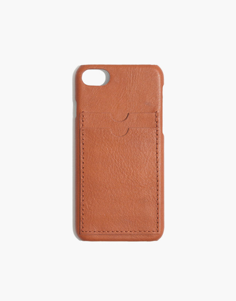 Leather Carryall Case for iPhone® 6/7/8 in english saddle image 1